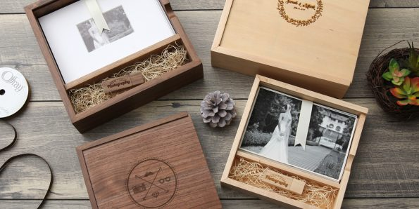 5×7″ Wood Proof boxes with USB Compartments