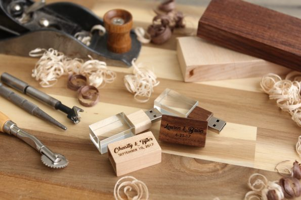Single Crystal Wood USB Drive (No Box)