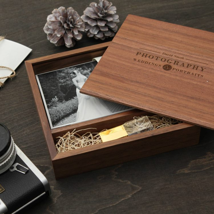 "5×7"" Walnut Wood Photo Print Proof Box"